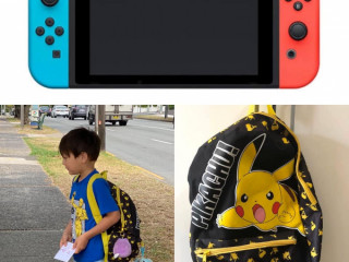 Pikachu Backpack lost with Nintendo Switch