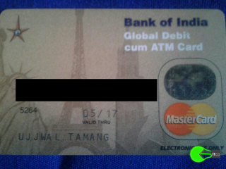 ATM card lost while travelling from salugara