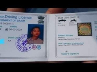 Lost driving license in Darjeeling