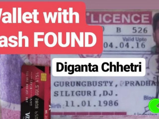 Found wallet of Diganta Chhetri