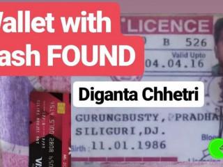 Found wallet of Diganta Chhetri