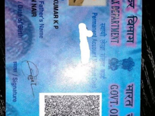 Lost pan card found from Pattom