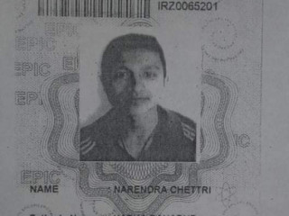 Lost voter ld card in the name of narendra chettri