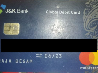 ATM card found near zonal education office Trehgam