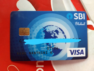 I lost my SBI debit card (visa card)  at vadasery vegetable Market yesterday.