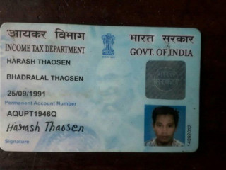 Found PAN card at Haflng Govt. college
