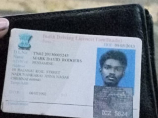 Lost driving license at ambattur