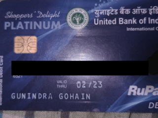 Found ATM card near hotel Riviera, Hatigaon