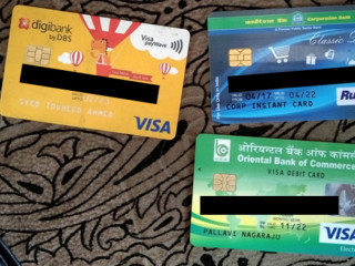 ATM cards found at kumaraswamy layout axis ATM