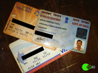 Found PAN card near government hospital sankhalim