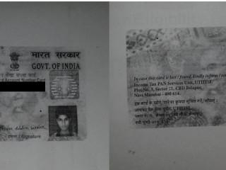 Pan card lost at karimganj