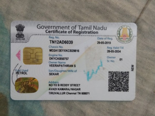 Lost RC book and ID proofs at Viruthachalam bus stop