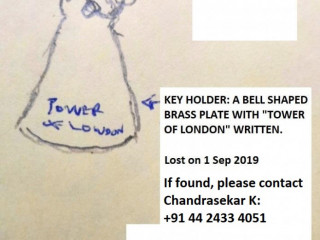 Lost Tower of London Keychain on 1st Sep 2019 in Chennai, India