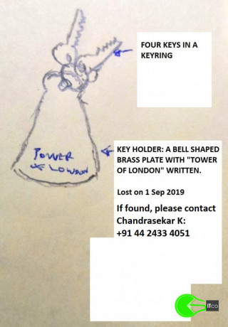 lost-tower-of-london-keychain-on-1st-sep-2019-in-chennai-india-big-0