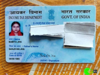 PAN card found at Bokaro Steel City