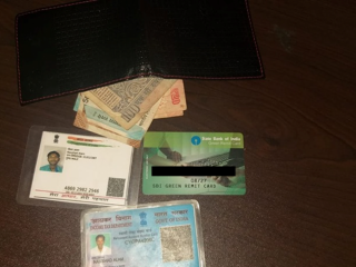 Wallet found with documents at Gangtok