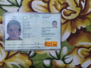 Found passport in the name of Dhanraja