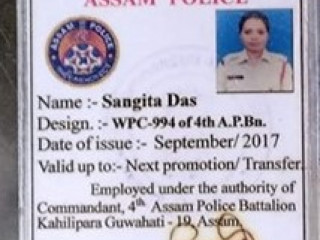 Found id card in the name of Sangita Das at Guwahati
