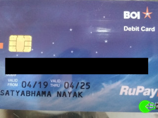 Found debit card near SHREYA Child Care
