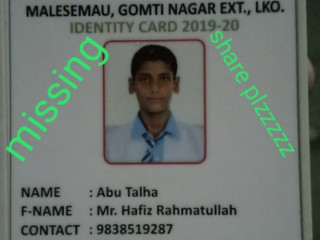 Boy missing from Gomti nagar